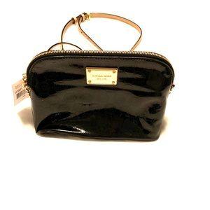 Black patent leather Michael Kors crossbody bag